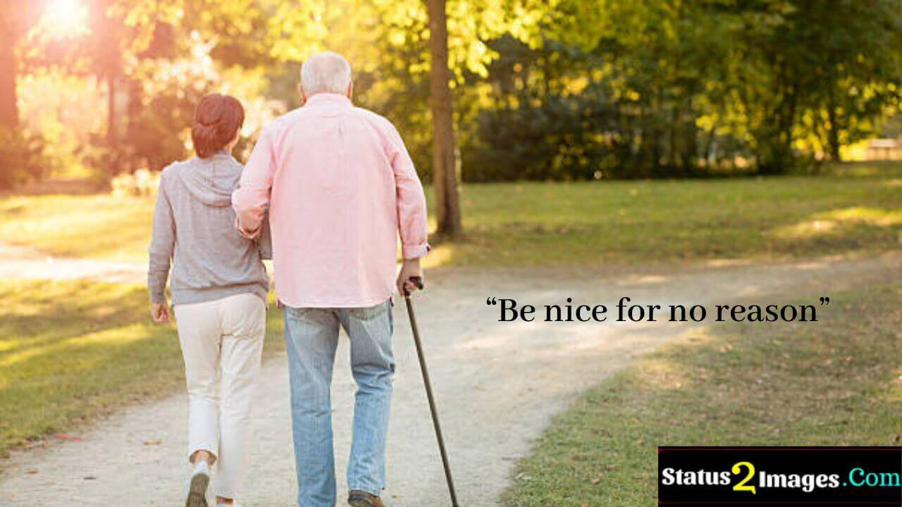 Be nice for no reason - Positive Quotes