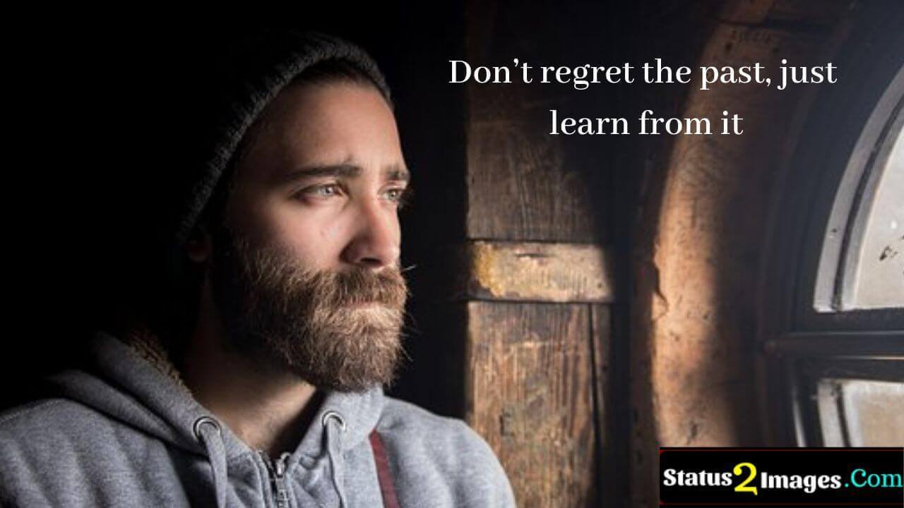 Don't regret the past, just learn from it -Positive Quotes