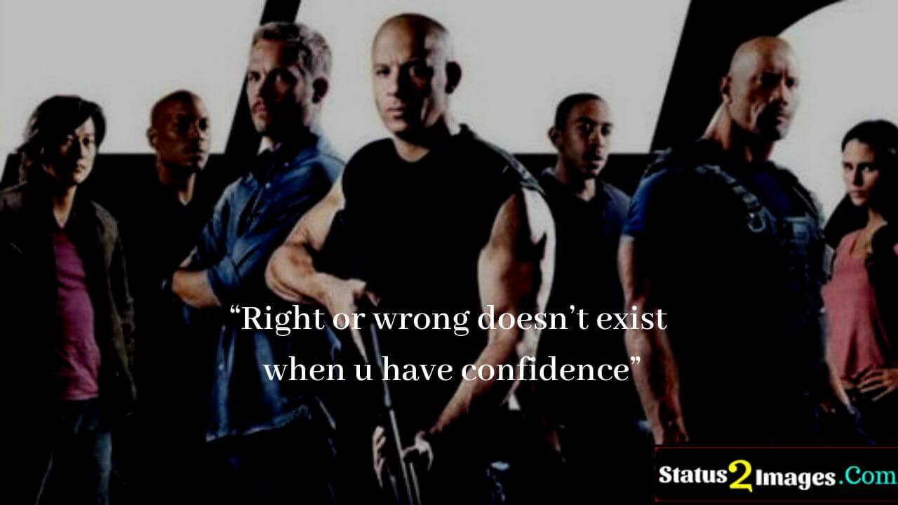 Right or wrong doesn't exist when u have confidence - Positive Quotes