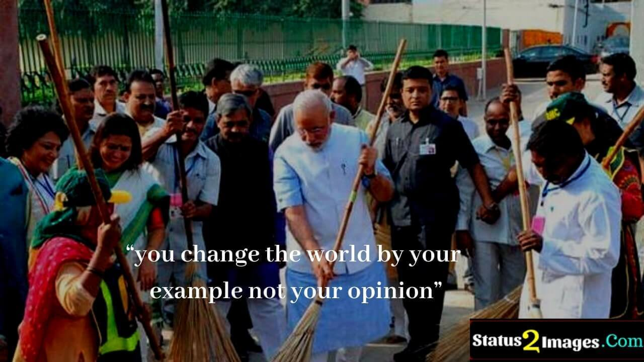 you change the world by your example not your opinion - Life Quotes